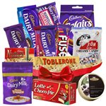 Greeting Desire Chocolates Basket Hamper
