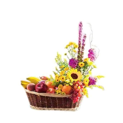 Fascination's Touch Flower and Fruit Assemblage